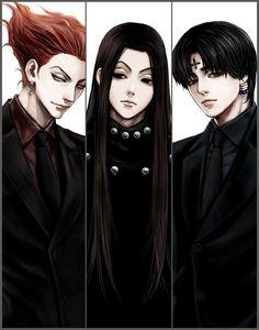 Hunter x Hunter - Adultrio (Hisoka Morow, Illumi Zoldyck, Chrollo Lucifer) Hisoka, Killua, Hunter X Hunter, Hunter Anime, Hunter Fans, Monster Hunter, Manga Anime, Fanarts Anime, D Gray Man Anime