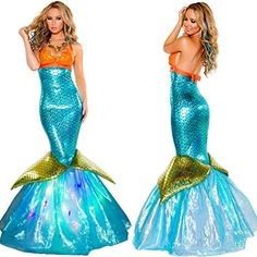 Sant Fe Halloween Costumes Cosplay Mermaid Dress Dress…