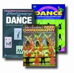 CHORAL CHOREOGRAPHY WITH JOHN JACOBSON SET - Set includes: 1) DECADES OF DANCE: A Vocabulary of Steps and Styles of Music DVD. For all ages, elem. to adult. DVD.  2) DICTIONARY OF DANCE: The Ultimate Guide for the Choral Director. Lots of bang for the buck! 72-pp. PB and DVD.  3) RISER CHOREOGRAPHY: A Director's Guide for Enhancing Choral Performances.