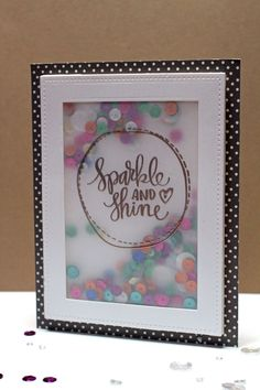 Sparkle and Shine Vellum Shaker Card