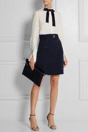 Alexander McQueenBelted wool wrap mini skirt