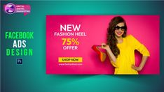 Fb Banner, Facebook Banner, Make Facebook, Ad Design, Design Posters, Graphic Design, Facebook Cover Design, Fashion Banner, Instagram Banner