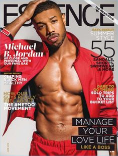 """""""Black Panther"""" and """"Fahrenheit star Michael B. Jordan covers the June 2018 issue of Essence magazine photographed by Michael Rowe. Black Man, Handsome Black Men, Black Boys, Handsome Man, Michael Rowe, Michael Bakari Jordan, Michael B Jordan Shirtless, Black Panthers, Gears Of War"""