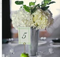 Galvanized wedding centerpiece