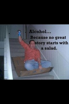 No great story starts with a salad...