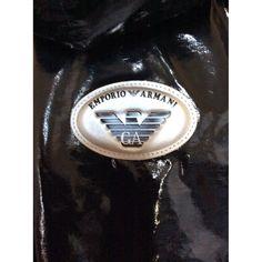 Jacket Emporio Armani Black size 48 IT in Synthetic - 7751096 Armani Black, Armani Men, Emporio Armani, Armani Jacket, Pvc Coat, Jackets, Down Jackets, Jacket