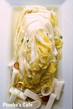맛있는 백김치 담그는 법,김치류 , 베지테리언  반찬,  저장 식품,  배추 요리,  한국 요리  , 백김치 레시피