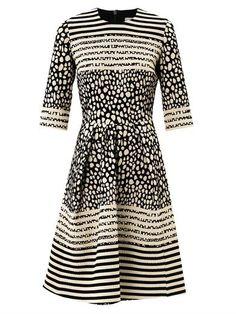 Prim Dalmatian-spot jacquard dress | Preen | MATCHESFASHION.COM