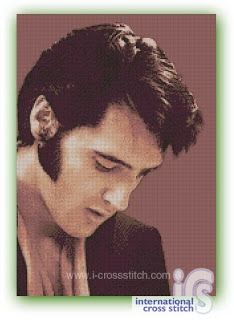 Elvis Presley has a special place in so many people hearts. Again I give you his potrait in a new simple cross stitch pattern. You can easily finish it in a month or two. Dimensions of the pattern: 150w x 213h stitches, full stitch only, in 13 colors dmc. Wow ..