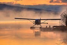 Floatplane sunrise