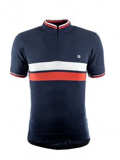 Cafe Jersey - Blue With Chest Stripe - Short Sleeve Jerseys - Men Cycling Tops, Cycling Wear, Bike Wear, Cycling Jerseys, Road Cycling, Cycling Outfit, Cycling Clothing, Bmx Girl, Men's Clothing