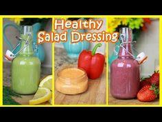 Healthy Salad Dressing Recipes!   Gluten & Dairy Free - YouTube