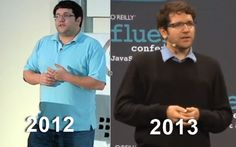 Dion Almaer  lost over 100 pounds through experimenting  -- More water, more protein and healthy fat, more veggies, drop sugars, drop wheat, real food, not junk, get educated, be open to new thoughts and experiences, be mindful, don't cling to comfortableness, embrace the effort, track progress, get sleep, get support, watch out for self-compromise, keep learning