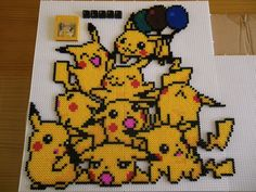 Pile of Pikachus hama beads by LinusGale on deviantart