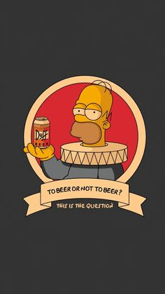 Simpson Wallpaper Iphone, Funny Iphone Wallpaper, Cartoon Wallpaper, Cool Wallpaper, Simpsons Drawings, Simpsons Art, Arte Do Sistema Solar, Desenho Tom E Jerry, Duff Beer