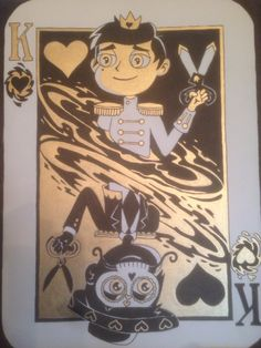 "malthuswibble: ""King of All Our Hearts (SvtFoE Cards Series Number Three: King of Hearts) """