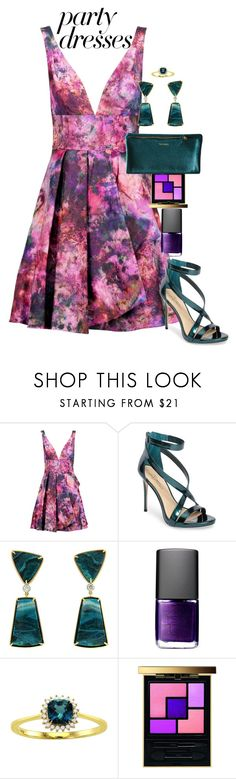 """Friendship party"" by mfcastillo98 ❤ liked on Polyvore featuring Notte by Marchesa, Imagine by Vince Camuto, NARS Cosmetics, Beverly Hills Charm, Yves Saint Laurent, Pink, purple and party"