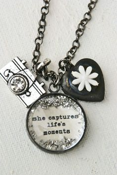 Camera Necklace She Captures Lifes Moments...I need one!