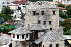 Stunning panoramic view over the historic architecture in Mostar. Visit our website: www.tourguidemostar.com #architecture #photography #travel #travelworld #tara #halebija #oldbridge #oldtown #mostar #tourguidemostar