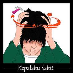 Gambar Ekspresi Sakit Kepala Just Smile, Anime, Art, Art Background, Kunst, Cartoon Movies, Anime Music, Performing Arts, Animation