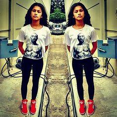 Zendaya Rocks A Tupac Shakur Shirt 10/19/12! (@Zendaya96)via @alexisjoyvipacc on TWITTER// alexisjoyvipaccess on FB// www.alexisjoyvipaccess.com