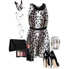 """No. 14 - Leopard Printed Dress"" by hbhamburg on Polyvore"