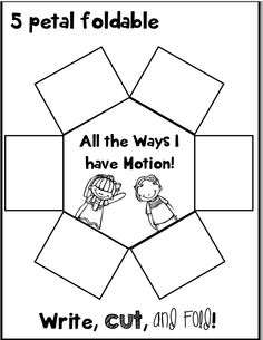 5 petal foldable for force and motion..... My kids loved this!