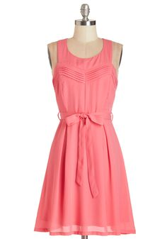 Strawberry Dreams Dress. You're simply glowing in this rosy-pink sleeveless dress! #pink #modcloth