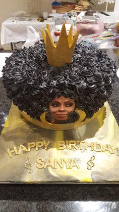 Afro cake. Latest creation