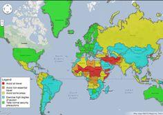 Países peligrosos