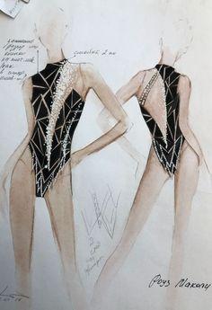 Rhythmic Gymnastics Costumes, Rhythmic Gymnastics Leotards, Dance Leotards, Black Catsuit, Black Leotard, Swimming Outfit, Figure Skating Dresses, Dance Outfits, Dance Costumes
