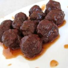 Appetizer Grape Jelly and Chili Sauce Meatballs or  Lil Smokies