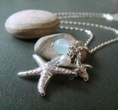 motherhood . silver . beach inspired starfish by trystjewellery