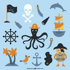 Discover the best free resources of Pirate Pirate Images, Drawing Sketches, Drawings, Pirate Birthday, Vector Photo, Kids Rugs, Cartoon, Collection, Color Combinations