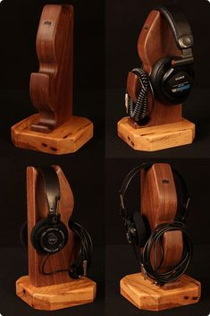Atlas Headphone Stand - Walnut and Hickory