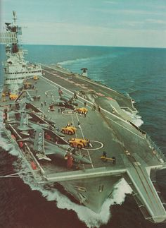 "apostlesofmercy: "" HMS Ark Royal in her prime - circa "" Royal Navy Aircraft Carriers, Hms Ark Royal, British Armed Forces, Royal Marines, Flight Deck, Navy Ships, Royal Air Force, Battleship, Great Photos"