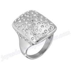 e7b6e9d9ec27 Material  Acero Inoxidable Nombre Anillo de plata de acero con diamantes de  moda 2013 Model No. SSRG119 Peso 9.2G. bisuteria al por mayor