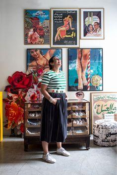 Designer Rana Salam at her Beirut Studio shot for Harpers Bazzar Arabia by Sebastian Boetcher. Stylized by Salim Cherfan. Studio Shoot, Beirut, Gallery Wall, Portraits, Frame, Design, Home Decor, Picture Frame, Decoration Home