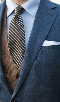Linen and tweed #suitandtie