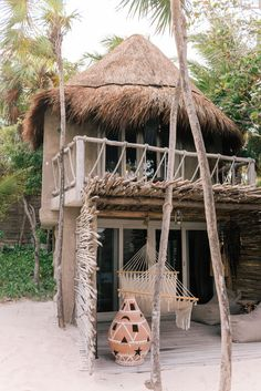 Gal Meets Glam's full five day Tulum travel guide includes the best activities, places to stay and eat, and what to wear in Tulum. Surf Shack, Beach Shack, Beach Bungalows, Beach Resorts, Bamboo House Design, Jungle House, Casamance, Tulum Mexico, Beach Bars