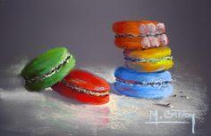 Pastel Drawing, Macarons, Pastels, Facebook, Drawings, Desserts, Blog, Painting, Sweet Treats