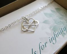 Friendship infinity bracelet and card infinity heart by NYmetals