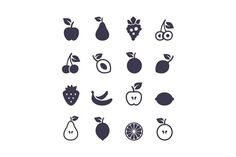 Icon fruit #agriculture #apple