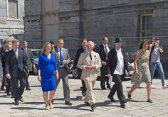 Prince Charles during a walkabout in Plymouth.