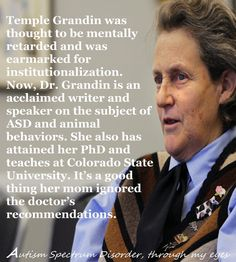 Dr Temple Grandin - I saw this amazing lady on Katie Couric's show today & was very moved.