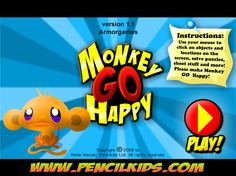 Monkey Go Happy - Super cool game in which you do random stuff to please a monkey! There are over 20 games! Fun Games, Games To Play, Awesome Games, Play N Go, Make Happy, Monkey, Random Stuff, Playsuit, Monkeys
