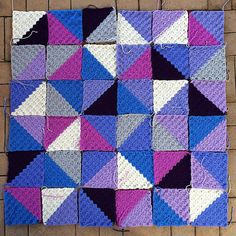 thatgirlwhocrochets #crochet triangles/squares