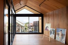 This project is an artist's studio in the backyard of an existing house in Thornbury, incorporating an undercover garage and storage underneath. The brief wa...