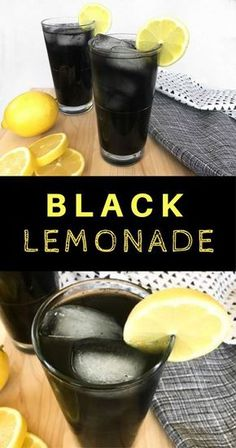 Black Lemonade: Adding activated charcoal in a glass of lemonade will give you a.,Black Lemonade: Adding activated charcoal in a glass of lemonade will give you an amazingly refreshing drink with beautiful black color. Refreshing Drinks, Yummy Drinks, Healthy Drinks, Nutrition Drinks, Healthy Eats, Party Drinks, Cocktail Drinks, Non Alcoholic Drinks, Beverages