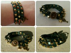 Spiky wrap bracelet. Wrap Bracelets, Leather, Jewelry, Jewlery, Jewerly, Wire Wrap Bracelets, Schmuck, Jewels, Jewelery